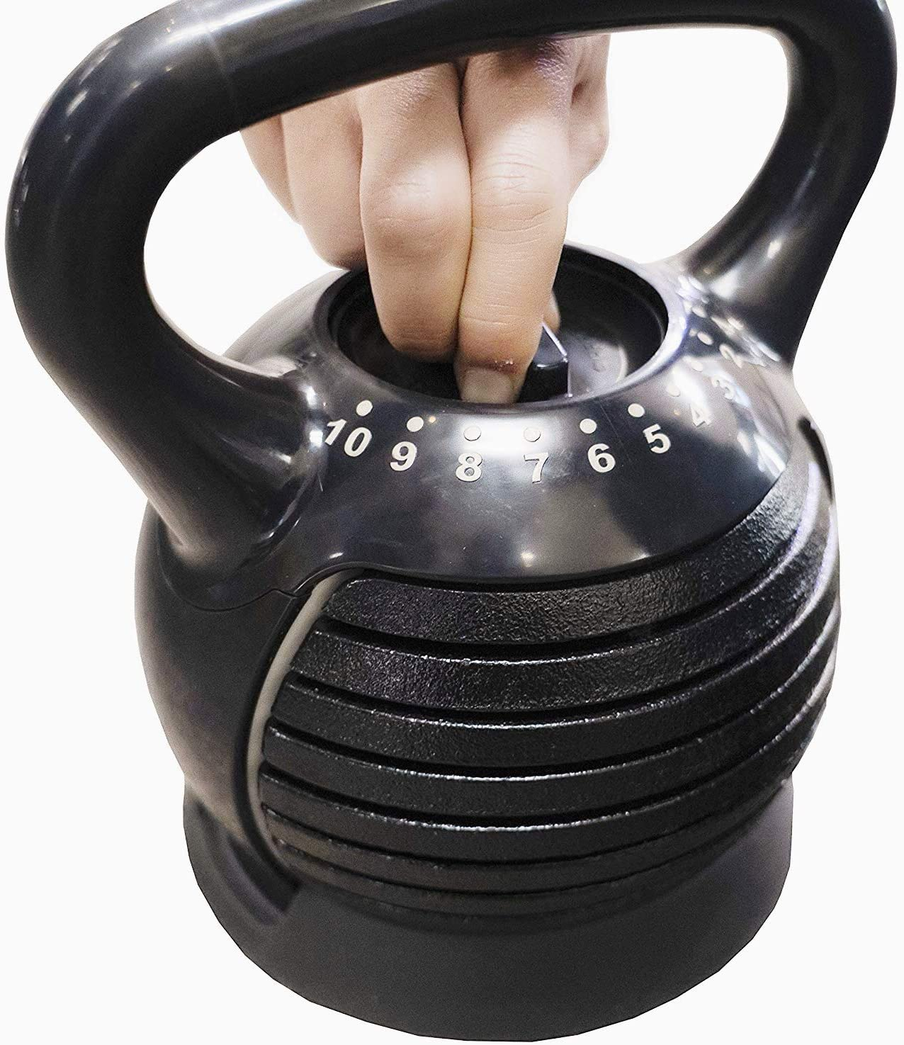 Cast Iron Kettlebell Weight Set 2.5-25Lbs for Full Body Workout and Home Use Strength Training DAZONE Adjustable Kettlebell