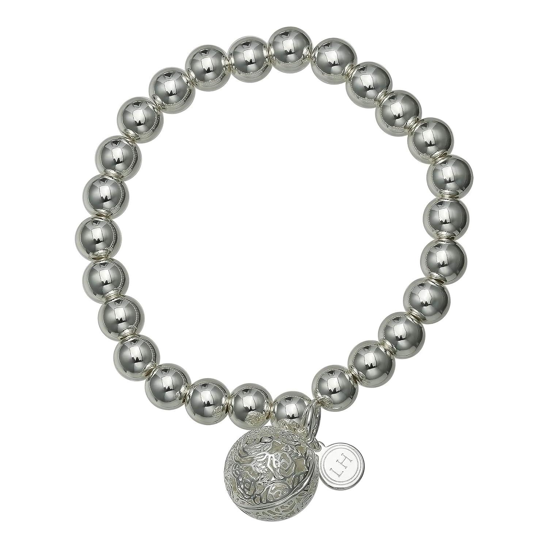 Lisa Hoffman Fragrance Beads Stretch Bracelet with Filigree Charm