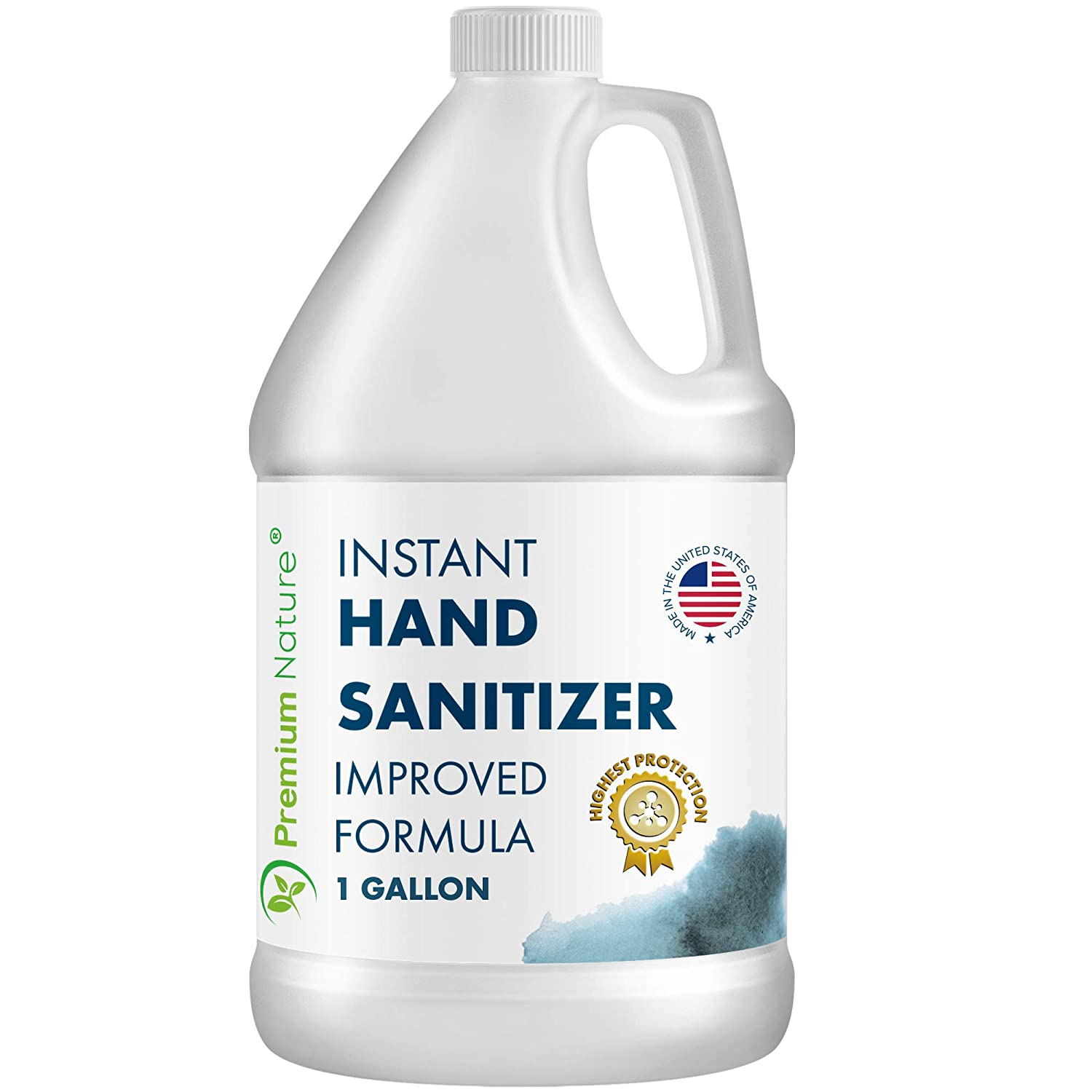 Instant Hand Sanitizer Gel - Value Size Advanced Natural Hand Sanitizer - Cleaner Portable Sanitizer Aloe Vera Moisturizer Disinfectant Anti Germ Sanittizer Refill Packaging May Vary (1 Gallon)
