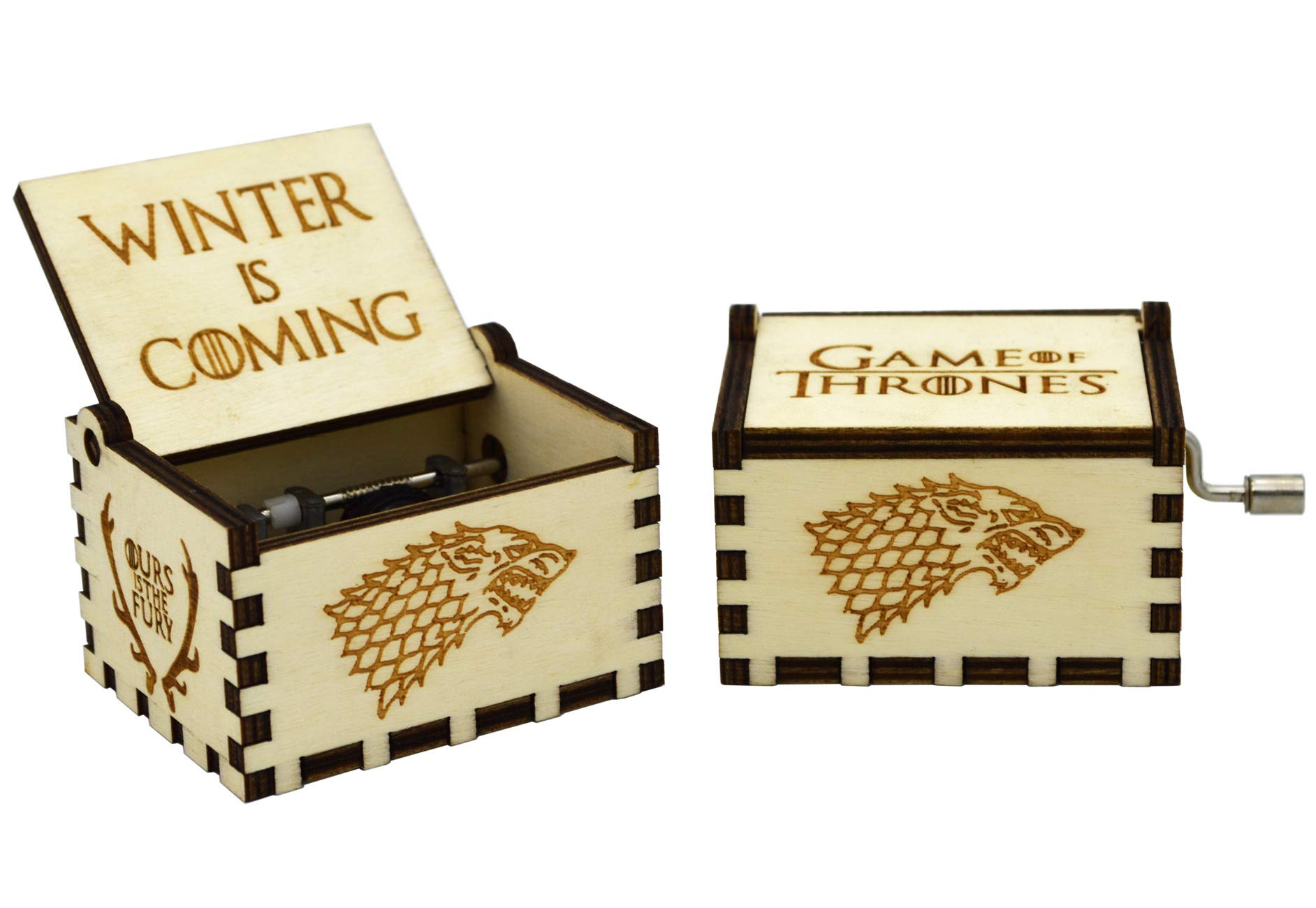 Sooye Game of Thrones Music Box - 18 Note Mechanism Antique Carved Wood Music Box Crafts (Game of Thrones(White))