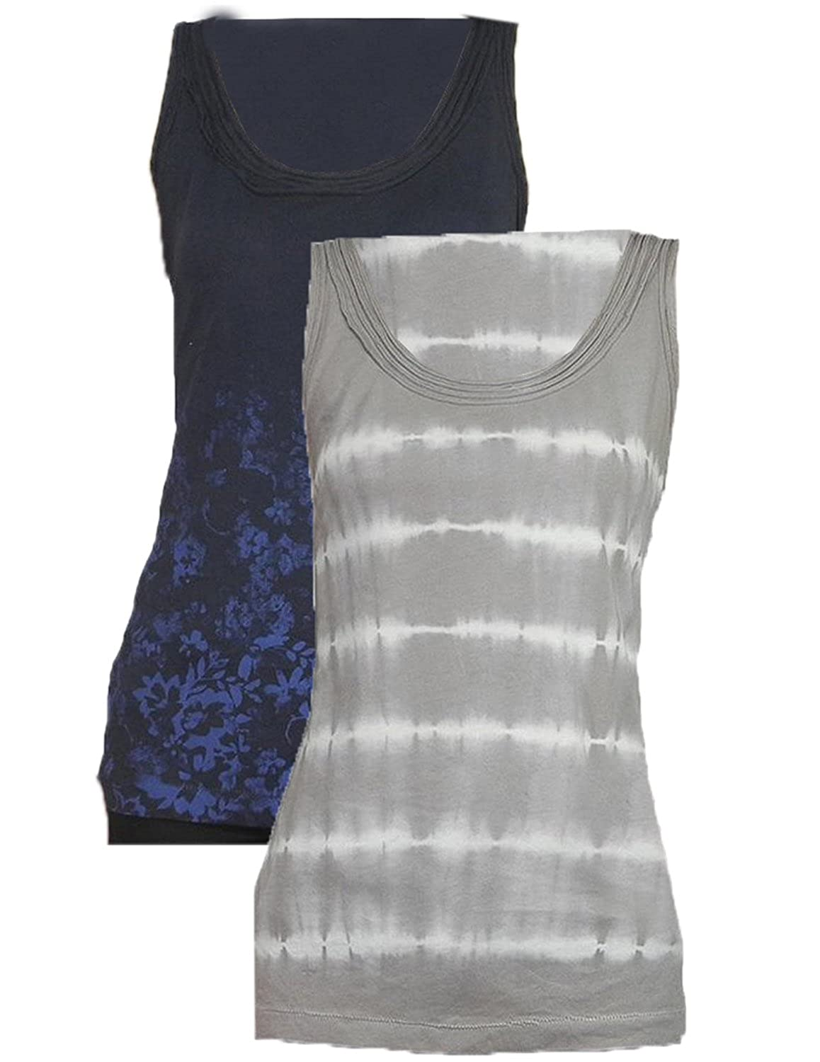 (Pack of 2) Eddie Bauer Womens Casual Crew-Neck Summer Tank Top
