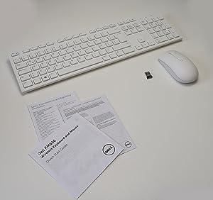 Aquamoon Trading New 5T11R Wireless Branco Keyboard WK636/p Mouse MWM116p Receiver DGRFEO Combo White Combinação de teclado sem fio externo Argentina Caribbean Desktop USB Port External