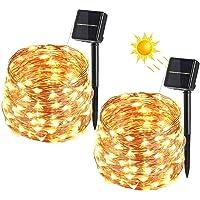 BrizLabs Cadena Luces Solares 2 Paquete 100 LEDs