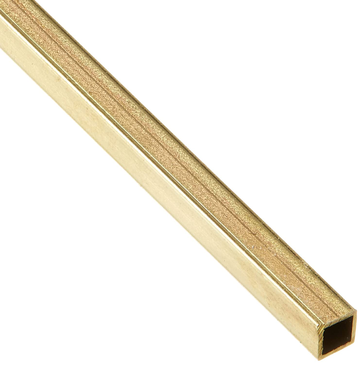 K&S Precision Metals 8151 Square Brass Tube, 1/8' OD x 0.014 Wall Thickness x 12' Length, 0.125 inch outside diameter, 1 pcs per car, Made in USA 1/8 OD x 0.014 Wall Thickness x 12 Length K & S PRECISION METALS