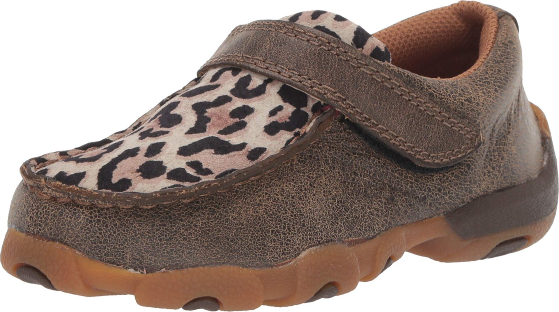 Twisted X Kids Bomber/Leopard Driving Mocs 11