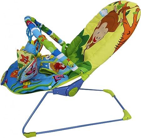 Todeco - Bouncer para Bebés, Cuna Bouncer - Tamaño: 80 x 51 x 60 cm - Carga máxima: 10 kg - Patrón de mar
