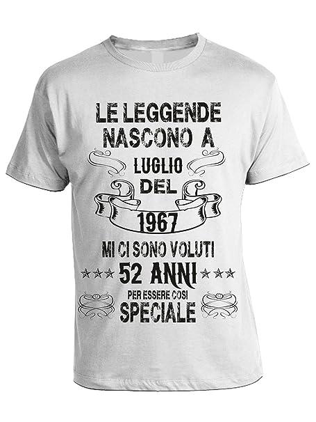 Tshirt Compleanno Bubbleshirt A Leggende Luglio Nascono Le wOnP80Xk