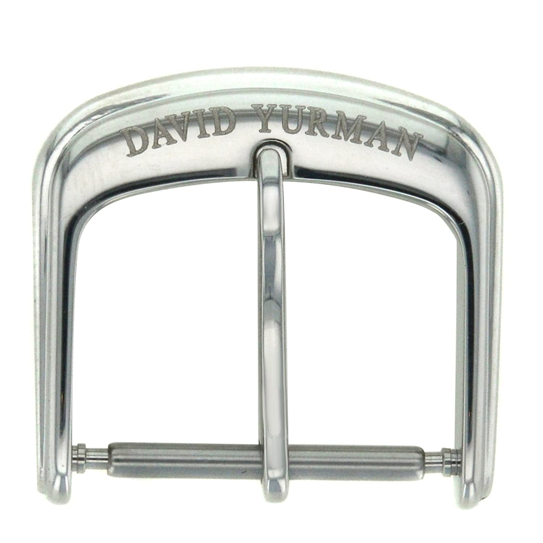 David Yurman 16 mm Edelstahl Tang Armbanduhr Schnalle