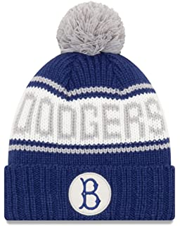 low priced f8217 40552 New Era Brooklyn Dodgers MLB 9Twenty Cooperstown Retro Patch Cuffed Knit Hat
