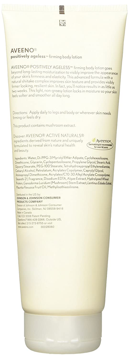Aveeno Active Naturals – Positively Ageless Firming Body Lotion – Firmer Looking Skin In Just 2 Weeks – Net Wt. 8 OZ 227 g Each – Pack of 3