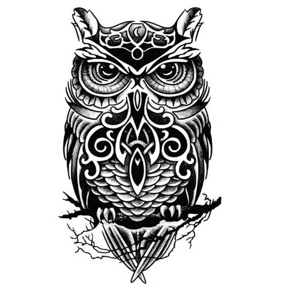 Amazon.com : Cool Owl Pattern Tattoos Body Tattoo Stickers ...