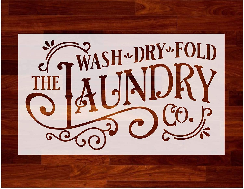 "Farmhouse Laundry Wash Dry Fold ~ Reusable Stencil ~ 8""x11"" sheet"