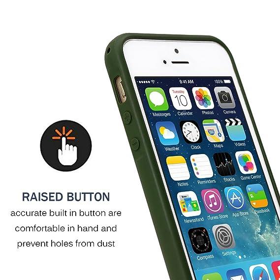 Amazon.com: MUNDULEA Matte Case Compatible iPhone 5s/SE/5, Matte TPU Ptotective Cover Compatible iPhone SE 5S (Deep Green): Cell Phones & Accessories