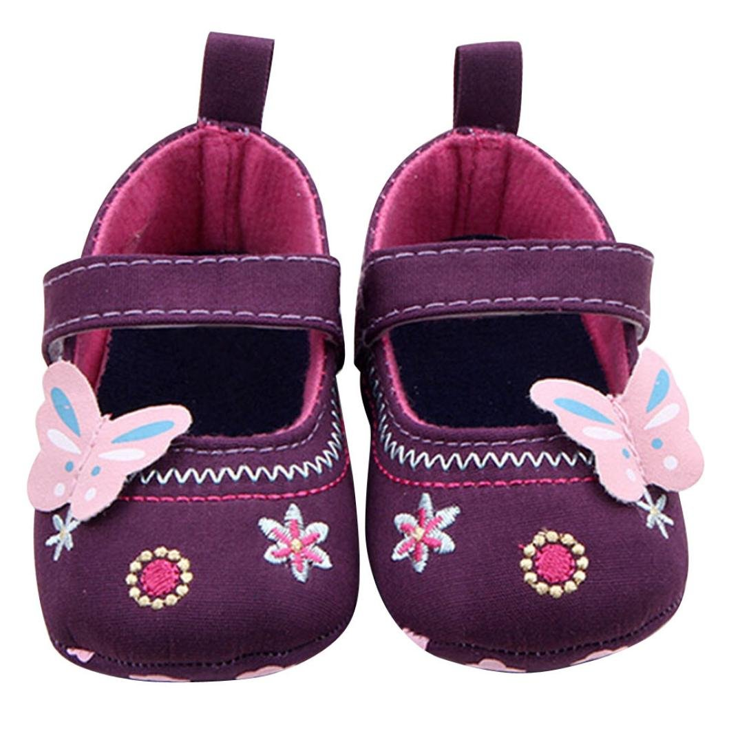 Xinantime Butterfly Soft Sole Toddler Shoes Shoes 12~18 Month, Blue