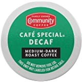 Community Coffee Café Special 18 Count Coffee Pods, Medium-Dark Roast Decaf, Compatible with Keurig 2.0 K-Cup Brewers, Box of