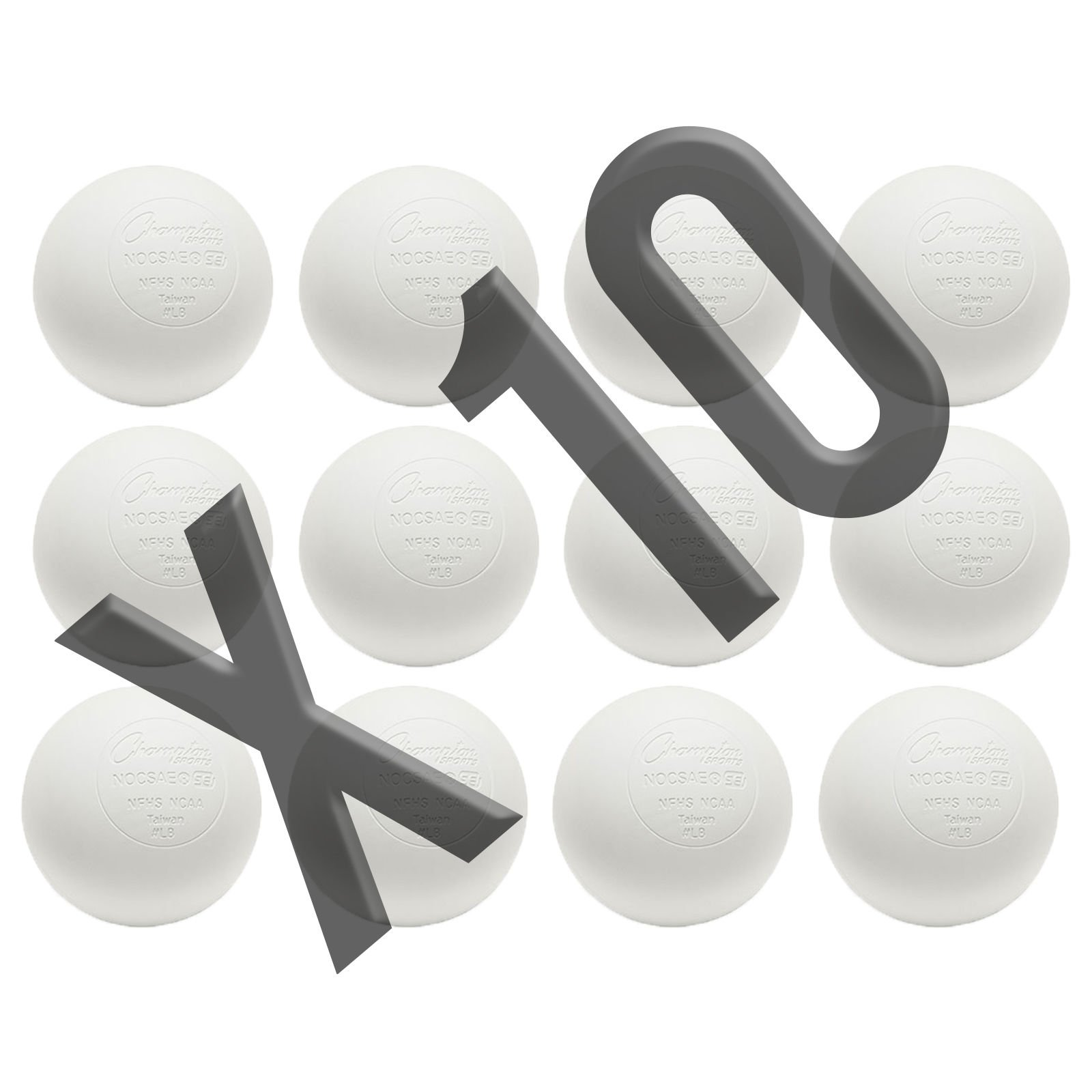 Champion Sports Official Lacrosse Balls-Pack (120 Balls, White) by Champion Sports