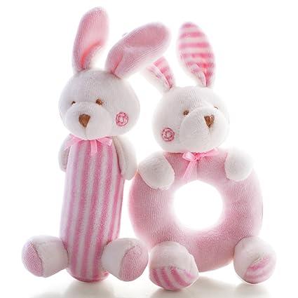 Plush Ball Early Education Developmental Soft Stuffed Ball Baby Hand Bell Toy J