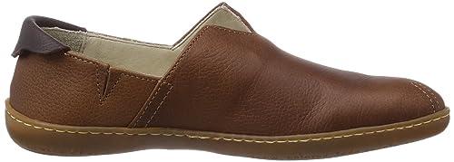 El Viajero - Zapatillas de casa de cuero unisex, color marrón, talla 43 El Naturalista