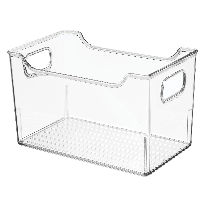 Cajas de pl/ástico para Guardar Alimentos mDesign Juego de 4 fiambreras para el frigor/ífico Organizador de Nevera para l/ácteos Frutas y Otros Alimentos Transparente
