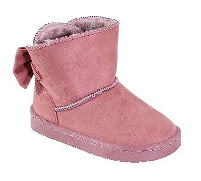 8c7fed7d29b1a By Shoes - Bottine Fourrée Style Daim pour Enfant - Taille 30 - Pink ...