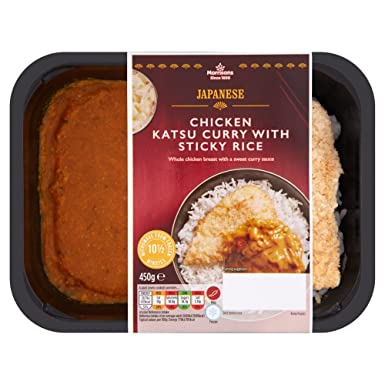 Morrisons Japanese Chicken Katsu Curry With Sticky Rice 450
