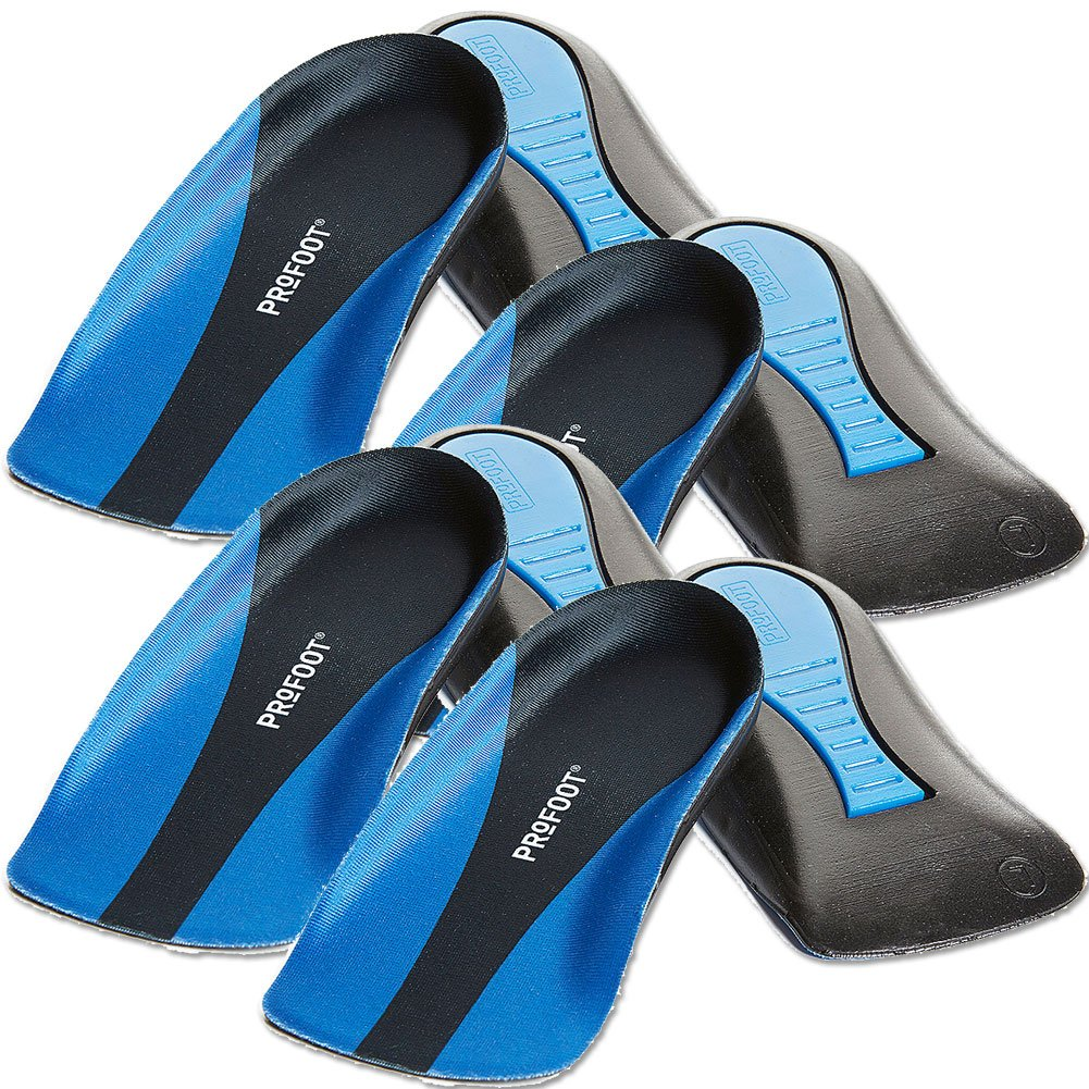 ProFoot Plantar Fasciitis Heel Insert Men's, 1 pair (Pack of 4) by Profoot