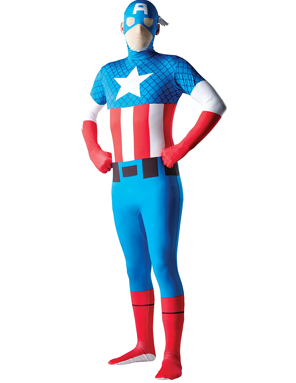 Generique - Disfraz Segunda Piel Capitán América Adulto XL ...