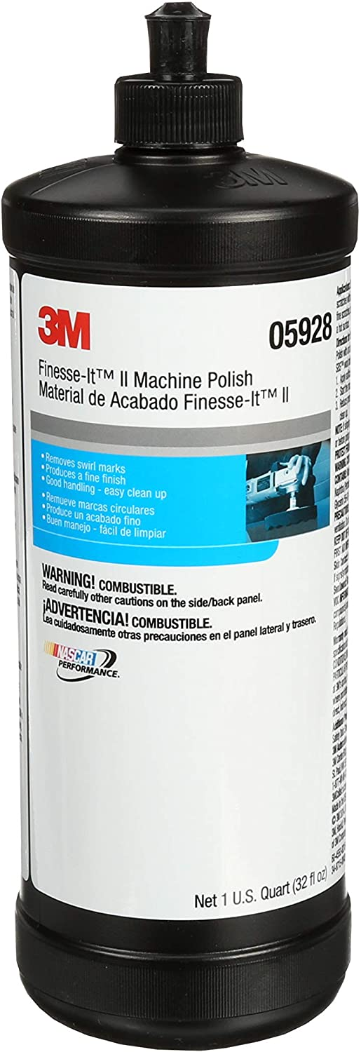3M Finesse-it II Machine Polish, 05928, 1 qt (32 fl oz/946 mL)