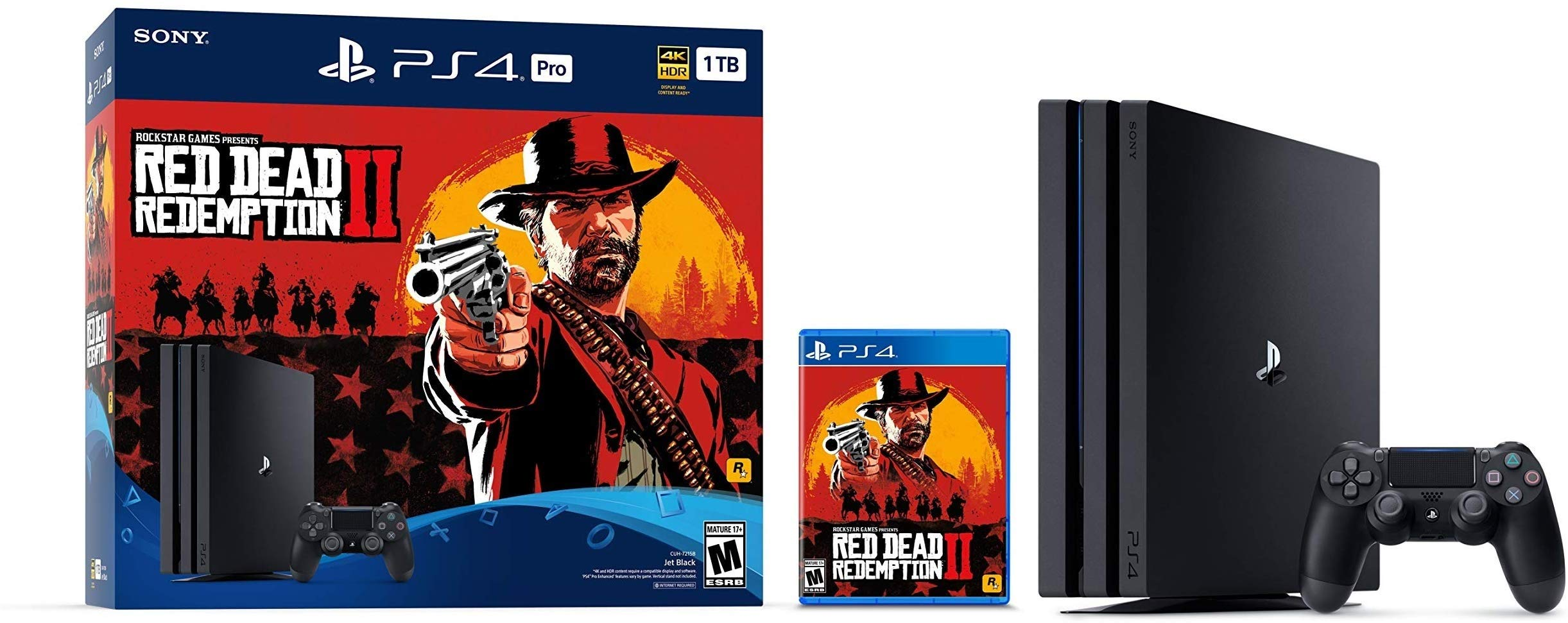 2019 Newest Sony PlayStation 4 Pro Console with Red Dead Redemption 2 Bundle | Customize Your Own Special PS4 Storage Upto 1TB/2TB/HDD/SSD