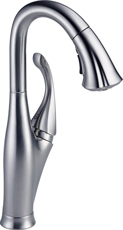 Delta Faucet 9992-AR-DST Addison, Single Handle Pull-Down Kitchen ...