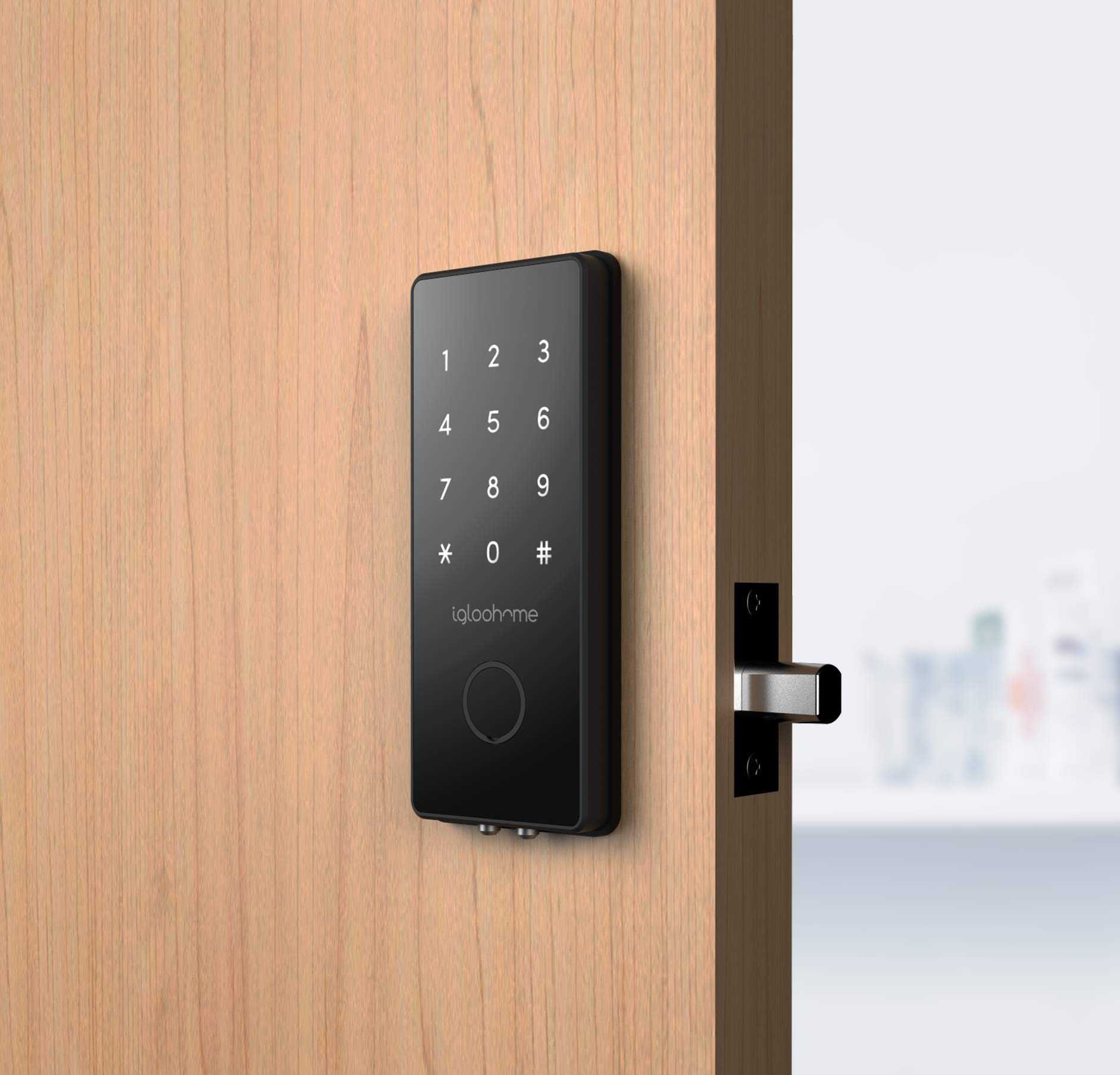 Igloohome Smart Electronic Deadbolt 2S, Grant & Control Remote Access with Pin Code - Touch Screen Keypad with Built-in Alarm - Bluetooth Enabled Works Offline - Works with Your Smartphone by igloohome (Image #4)