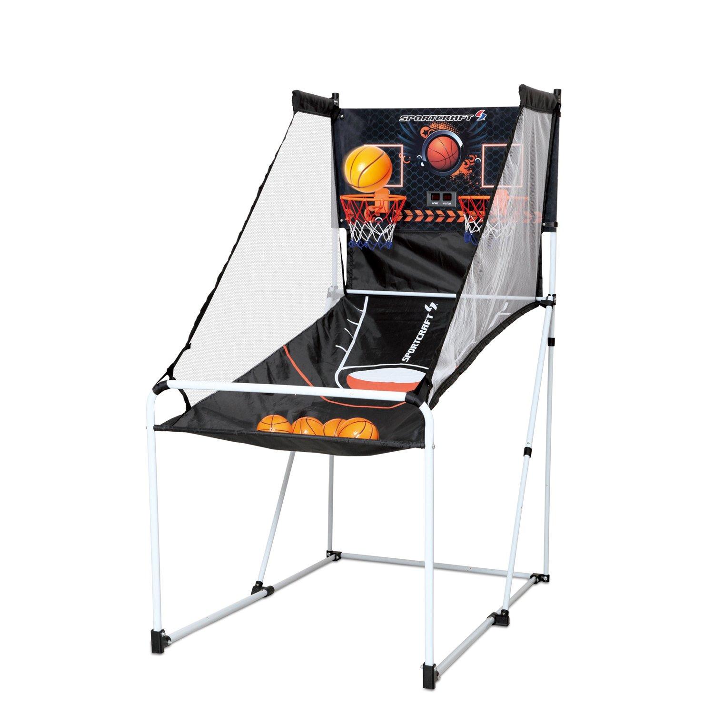 Sportcraft Junior Portable Foldable Basketball Arcade Game w/Carry Bag