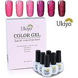 Ukiyo 6PCS Soak Off kit smalto semipermanente neon 8ml UV LED Smalto semipermanente unghie in Gel gel polish Nail Art set