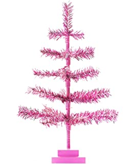 Amazon Com Aluminum Christmas Tree With Color Wheel Set Home Kitchen