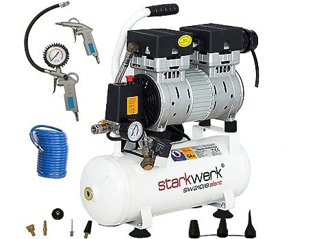 Fuerte de Silent silenciosos Impresión Compresor De Aire SW 210/8 sin aceite Set