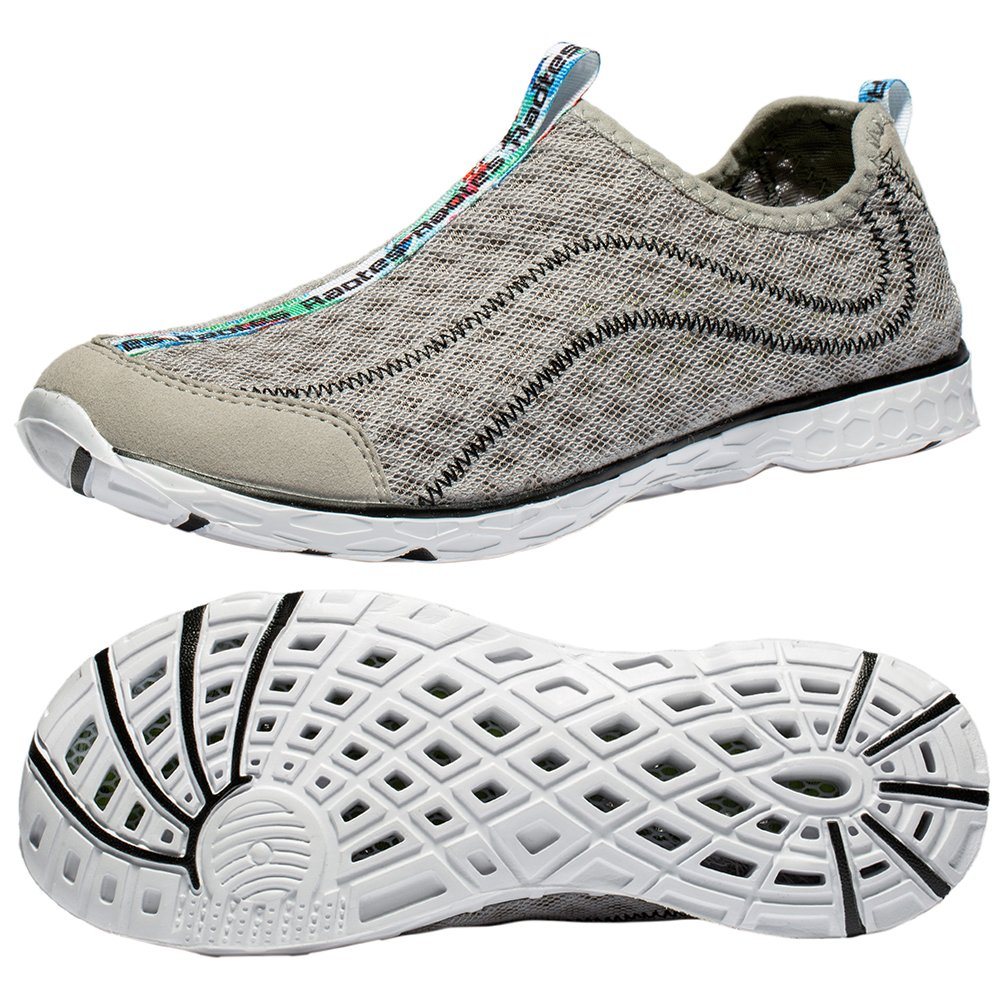 Raotes Quick Drying Aqua Water Shoes - Beach Walking Amphibious Shoes for Men Grey 45 by Raotes (Image #8)