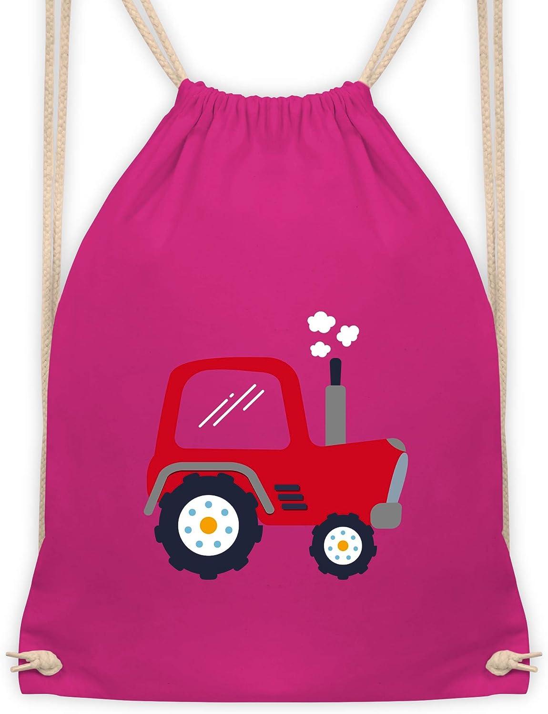 Shirtracer Turnbeutel und Stoffbeutel aus Bio-Baumwolle Fahrzeuge Kind Kinder Traktor