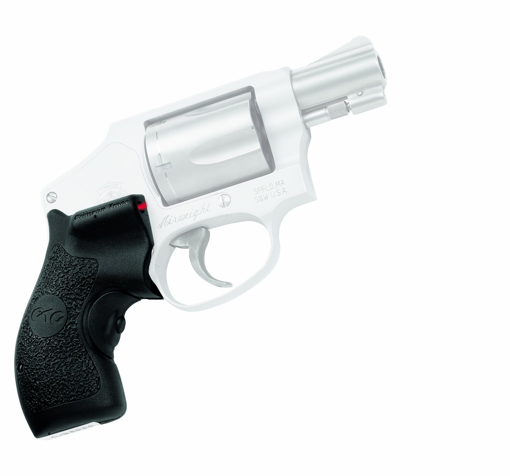 Crimson Trace LG-105 Lasergrips Red Laser Sight Grips for Smith & Wesson J-Frame (Round Butt) Revolvers by Crimson Trace