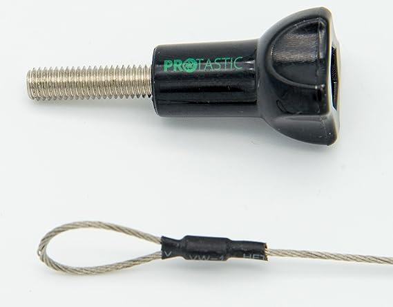 Cable de seguridad PROtastic para c/ámaras de acci/ón de casco GoPro y SJCAM longitud 30,4 cm