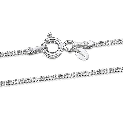 5010e272ae50 Amberta® Joyería - Collar - Fina Plata De Ley 925 - Cadena de Frenar ...
