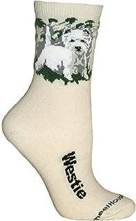 product image for Wheel House Designs Westie Women's Argyle Socks (Shoe size 6-8.5)