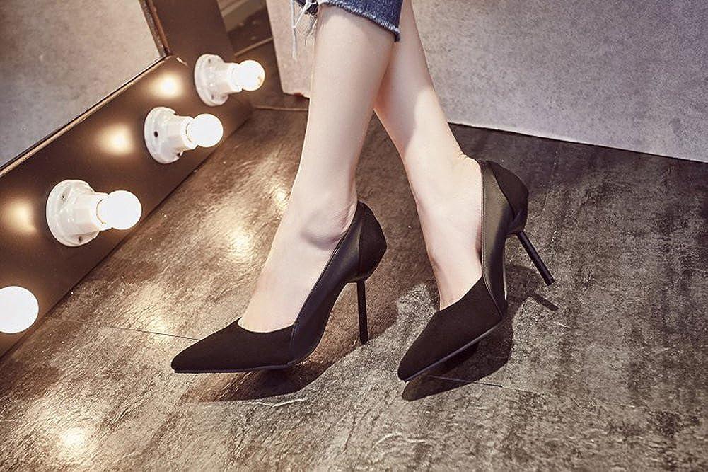 Aisun Damen Sexy Kontrastfarbe Spitz Zehen Stiletto High High High Heels Low Top Pumps 5013db