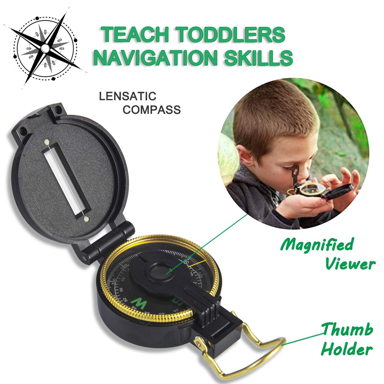 UTTORA Outdoor Explorer Kit Gifts Toys Kids Binoculars Set, Outdoor Exploration Set, Best for 3 4 5 6-12 Year Old Boy and Girl, Kids Telescope Adventure Kit, Children Outdoor Educational Kit