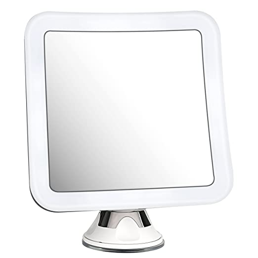 Amazon.com : Charmax 7X Magnifying Lighted Makeup Mirror With Travel Pouch, Natural LED Lights Bathroom Vanity Shower Mirror, Battery Operated, ...