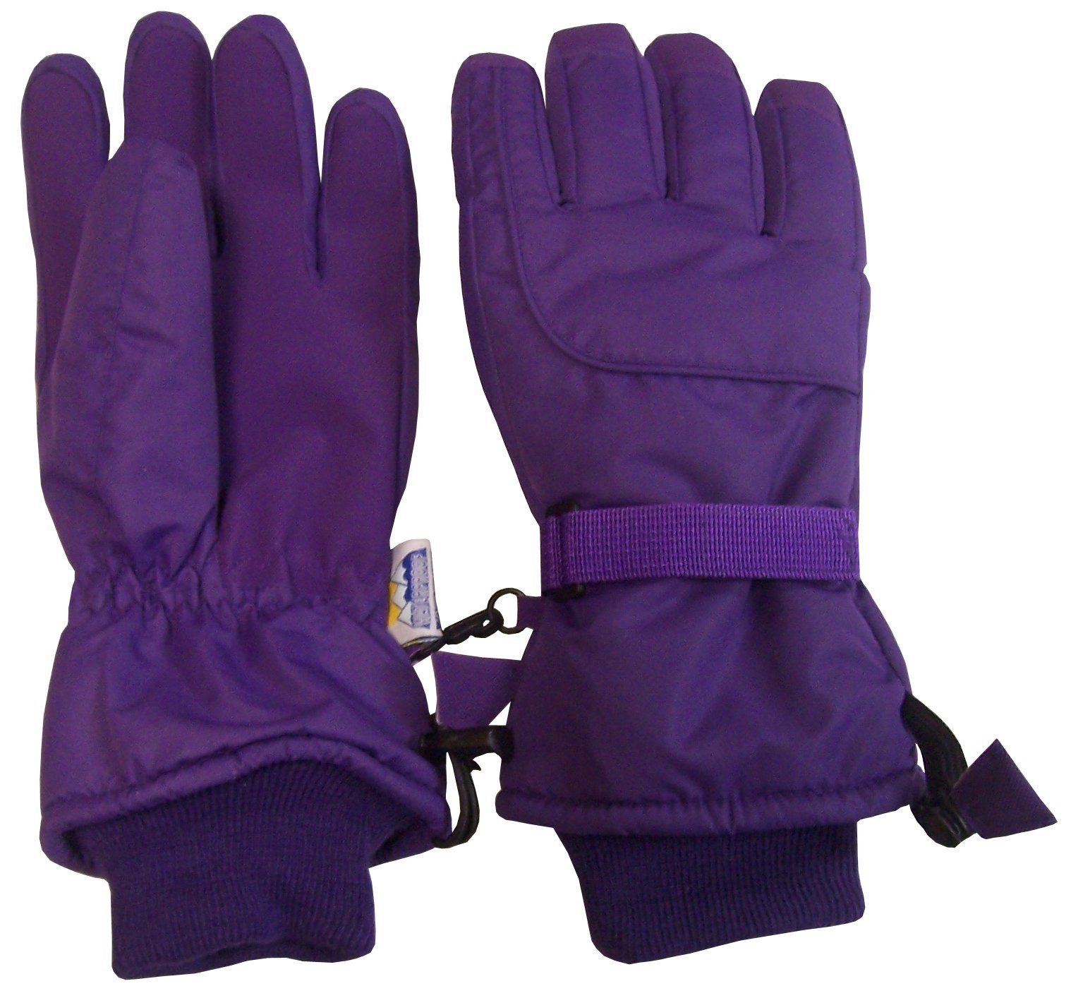 N'Ice Caps Kids Extreme Cold Weather 80 Gram Thinsulate Ski Gloves (5-6yrs, Dark Purple)