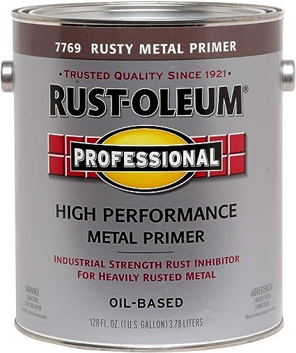 Rust Oleum 7769 402 Professional Gallon Rusty Metal Primer House Primers Amazon Com