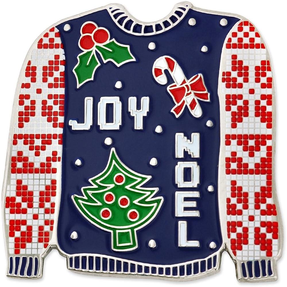 PinMart Ugly Christmas Sweater Trendy X-Mas Enamel Brooch Pin