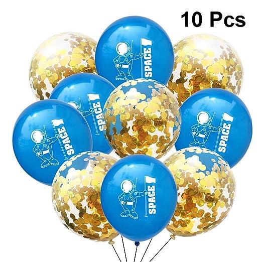 Toyvian Latex Confetti Balloons Set Spaceman Globo de ...