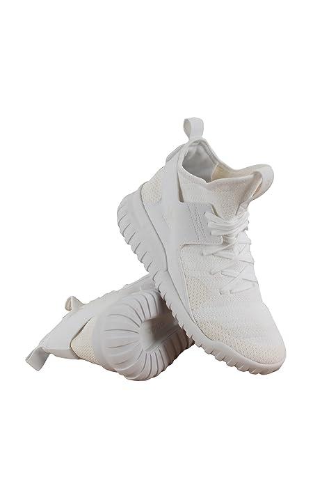 new concept 95e8c b31b8 adidas Tubolare x Primeknit (Bambini), Bianco (White), 39 EU