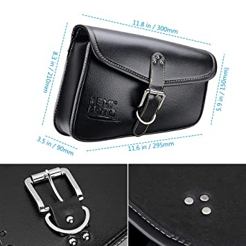 Homyl Motorcycle PU Leather Solo Side Swing Arm Saddle Bag for Harley Dyna Sportster Cruiser Fat Bob XL883 XL1200 Right #2
